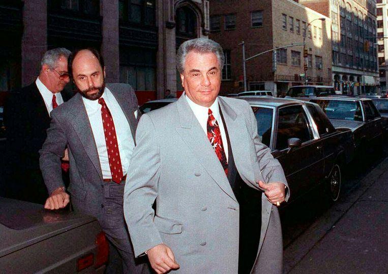 Foto van 1990. John Gotti, rechts, was een van de machtigste maffiabazen van zijn tijd. Beeld AP