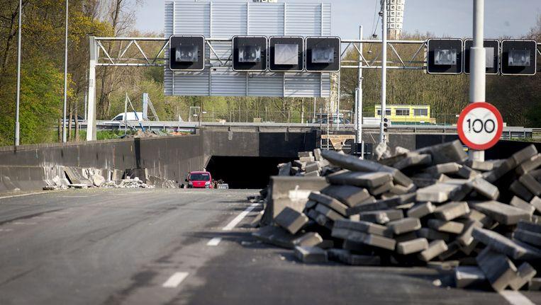 De Velsertunnel krijgt een opknapbeurt Beeld ANP