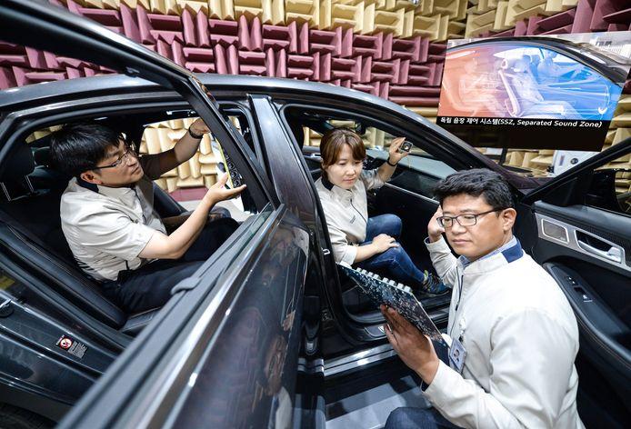 In de laboratoria van Kia en Hyundai in Zuid-Korea wordt al sinds 2014 aan de 'sound zones' gewerkt