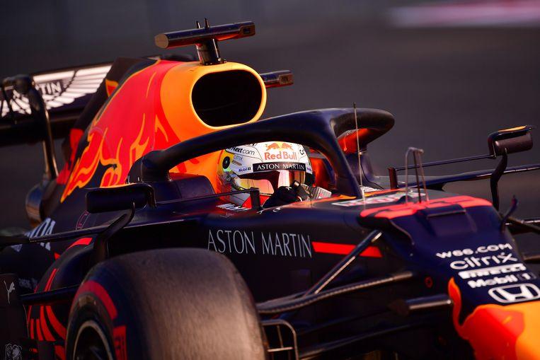Verstappen pakt de poloposition van de GP in Abu Dhabi.  Beeld Hollandse Hoogte / AFP
