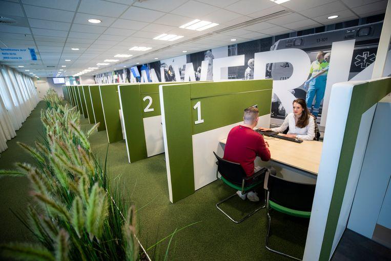 Het kantoor van het UWV in Amsterdam. Beeld  ANP