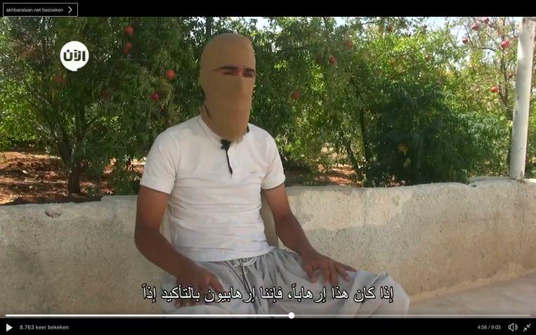 De Belg die een interview gaf met strijdnaam  Abu Abdul Rahman al Belgiki Beeld RV