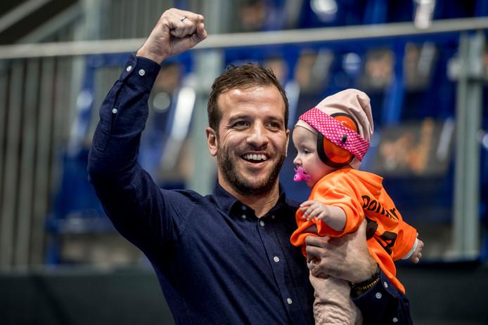 Rafael van der Vaart met dochter Jesslynn.