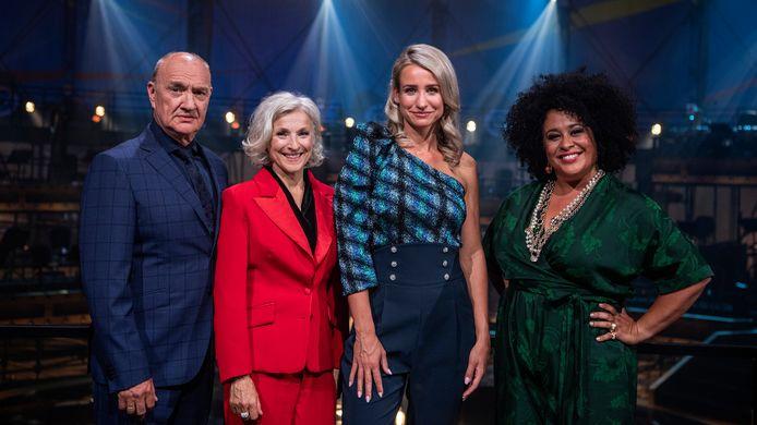 Henk Poort, Rosemary Joshua, Dionne Stax en Tania Kross in Aria.