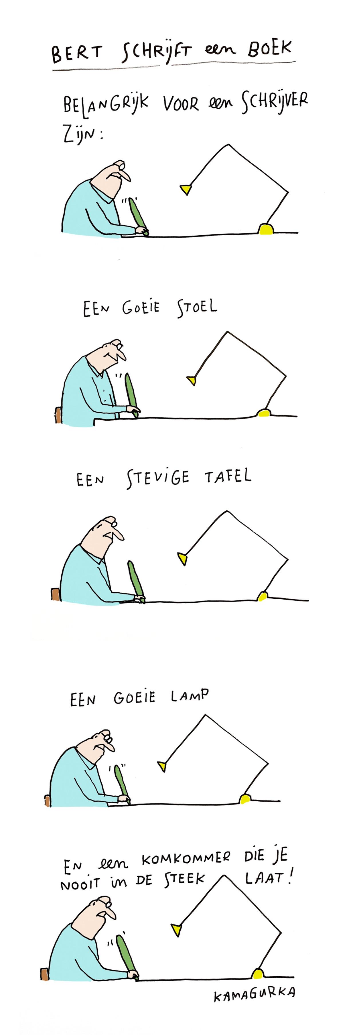 Bert schrijft een boek 34 Beeld Kamagurka
