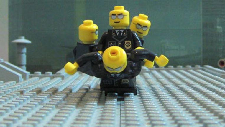 Een still uit de Lego-Matrix. Beeld