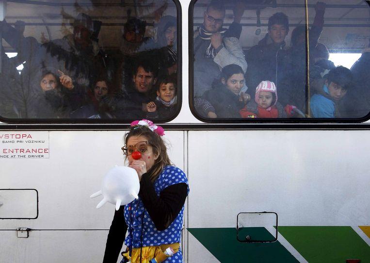 Dobova, Slovenië. Beeld Srdjan Zivulovic / Reuters