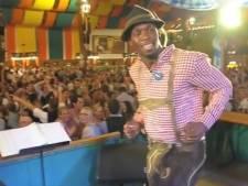 Usain Bolt steelt show op Oktoberfest