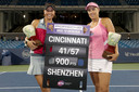 Lucie Hradecka en Andreja Klepac verdienen met hun dubbeltitel omgerekend ruim 129 duizend euro.