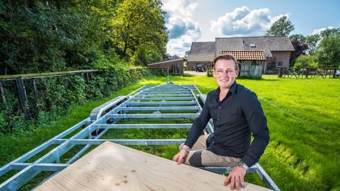 Brent (17) bouwt aan zijn toekomst: een eigen huis op wielen