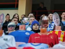 Fans blijven weg in Wit-Rusland: Dynamo Brest zet modepoppen op stoeltjes