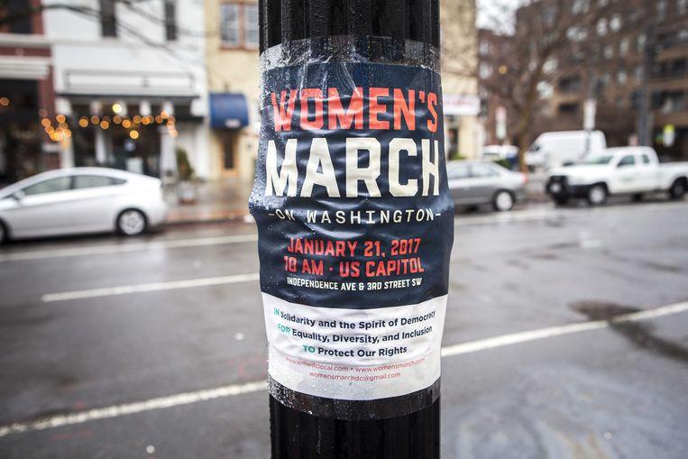 In Washington DC en vele andere Amerikaanse steden vindt vandaag een Women's March plaats. Beeld ANP