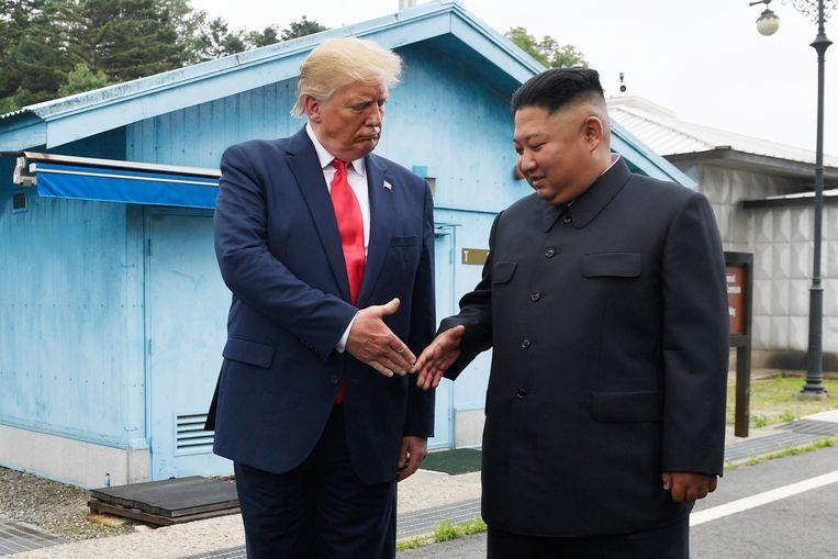 Op 30 juni ontmoetten de Amerikaanse president Donald Trump en de Noord-Koreaanse dictator Kim Jong-un elkaar op de grens van de twee Korea's.