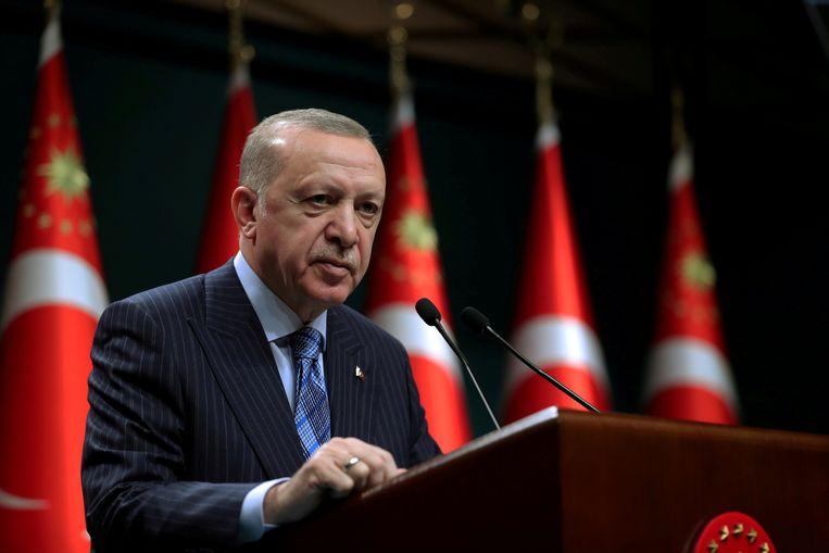 Erdogan op archiefbeeld. Beeld via REUTERS