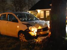 Bestuurder gewond na botsing tegen boom in Sint Hubert