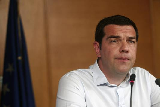 De Griekse premier Tsipras.
