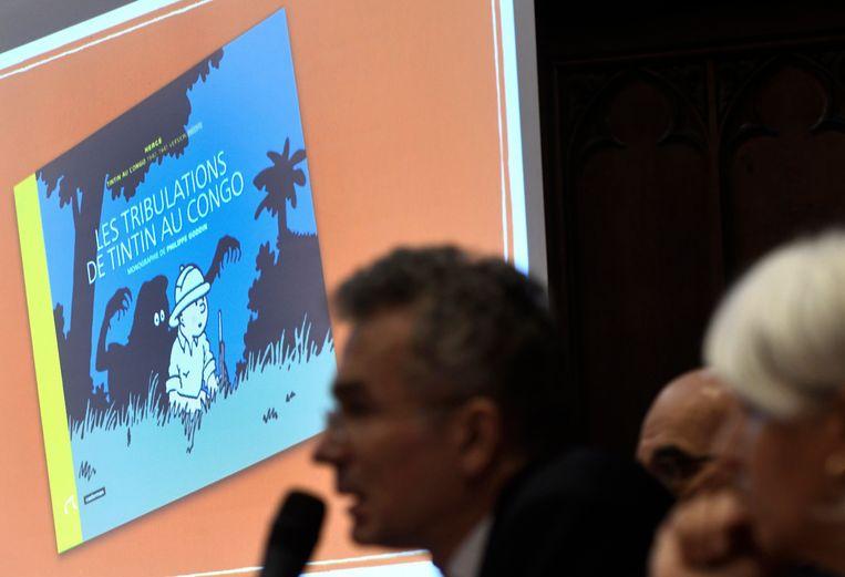 Persconferentie over 'Kuifje 90 jaar'.