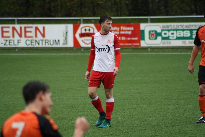 Sam Franse in actie voor Rood-Wit Veldhoven.