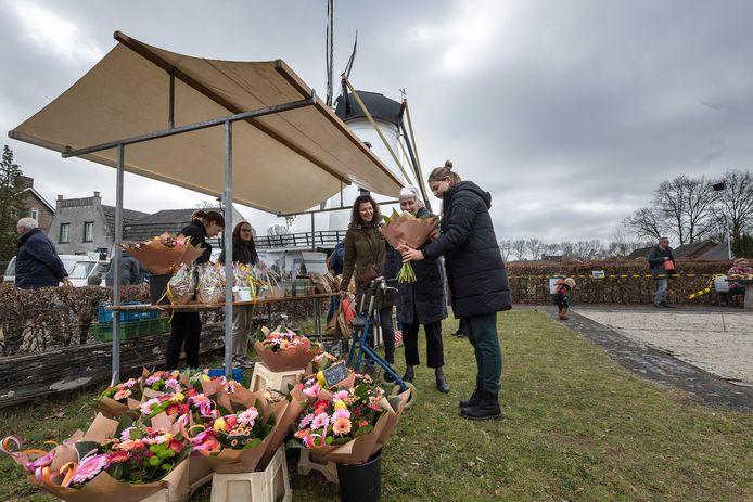 De Molenmarkt in Borkel is vorig jaar zo goed bevallen, dat hij de komende maanden elke week plaatsvindt.