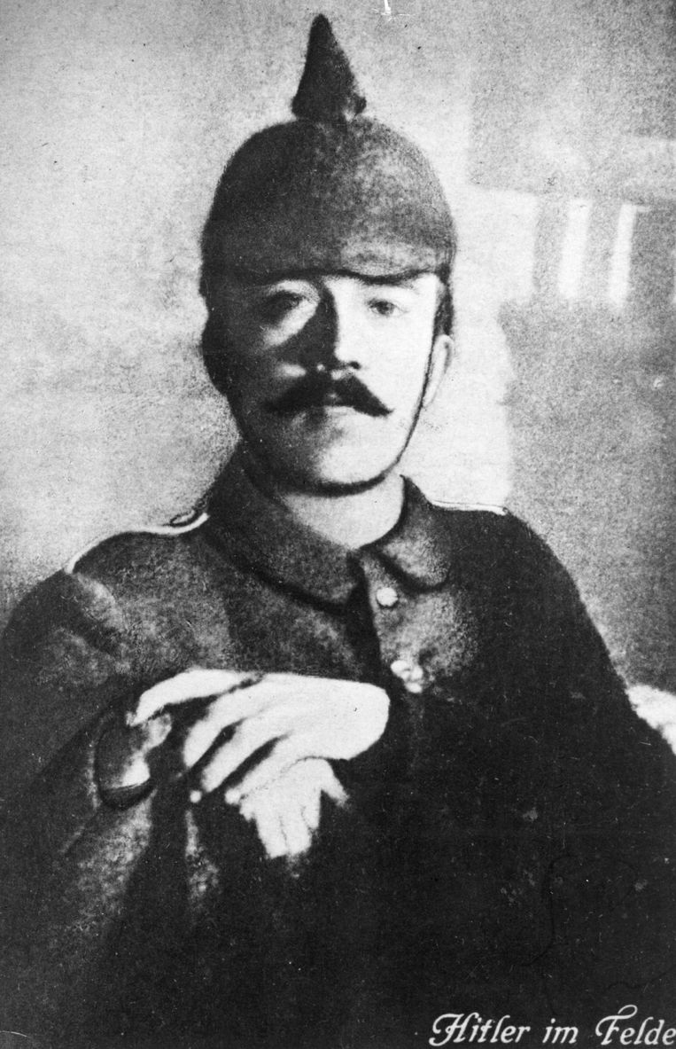 Hitler tijdens WOI Beeld GETTY
