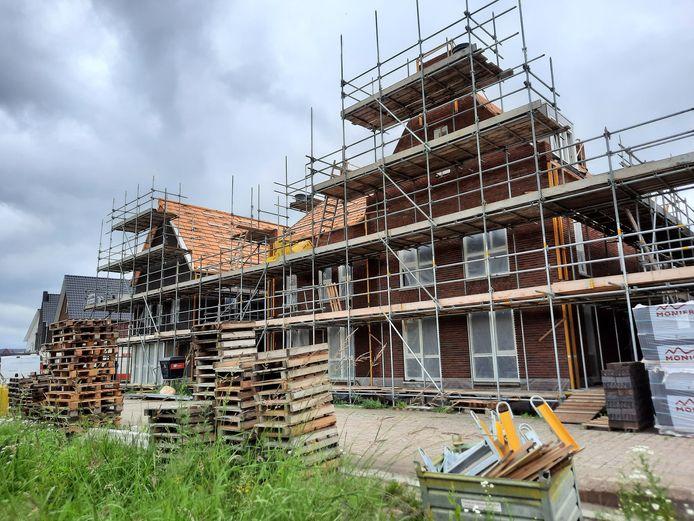 Nieuwbouw in de Bouverijen in Teteringen.