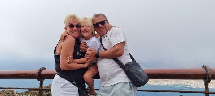 Heidy van de Vorst met haar man Rüdiger en zoon Sem.