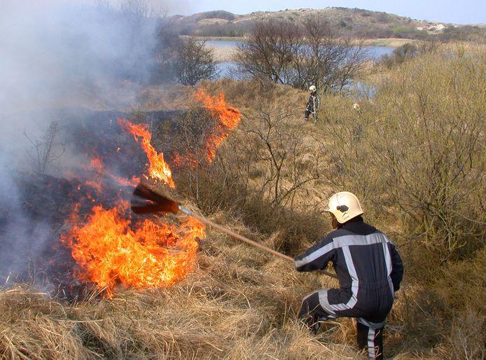Duinbrand, foto ter illustratie