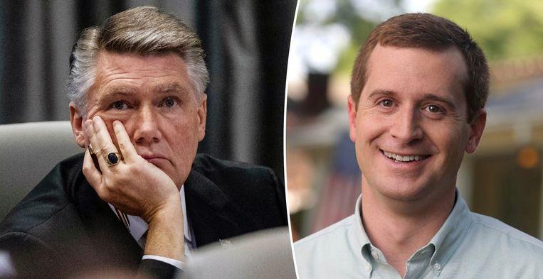 Republikein Mark Harris (links) en zijn Democratische uitdager in de afgelopen verkiezingen Dan McCready (rechts).
