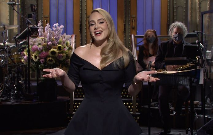 Adele in Saturday Night Live.