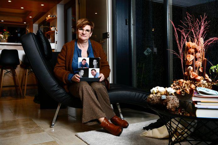 Gudrun Vandeginste, de moeder van Bjorn De Vrieze.