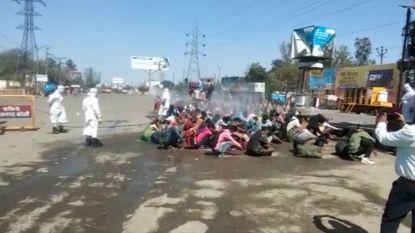 Indiase ontsmettingsploeg gaat stapje te ver