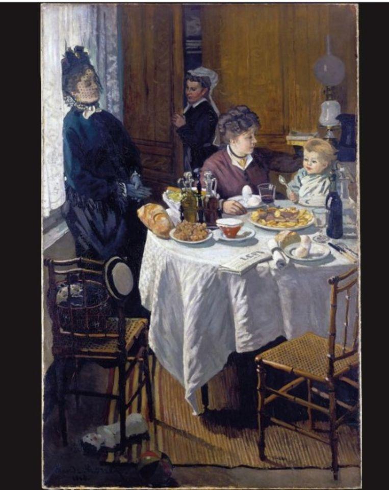 'Le déjeuner' Beeld Claude Monet