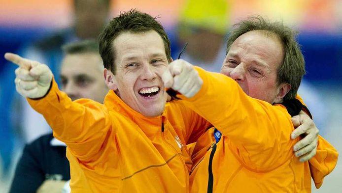Jac Orie met zijn gouden Stefan Groothuis.