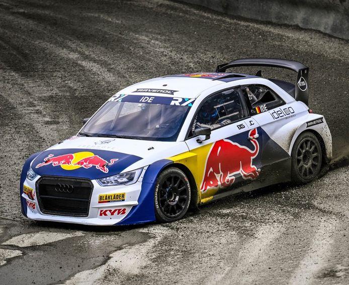 Enzo Ide in zijn Red Bull Audi S1.