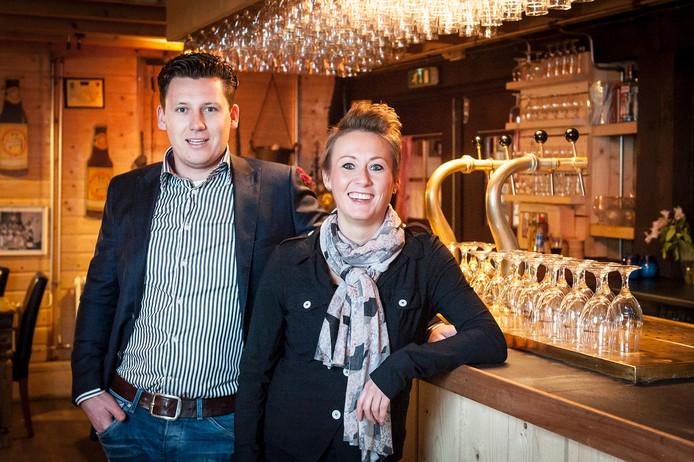 Fokke Roeland en Lonneke van de Locht van Bierbrouwerij Oijen.