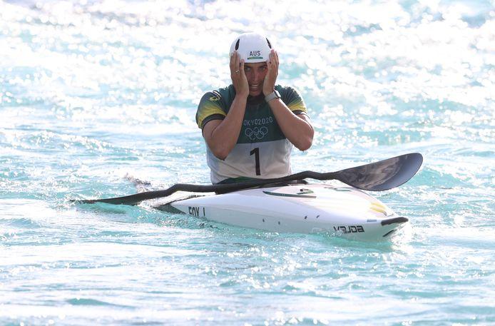 Jessica Fox won brons in de kano.