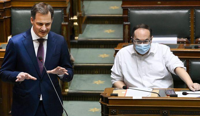 """Premier De Croo pleitte er bij de regeringspartners bij """"ons niet te laten vangen door tweedracht"""","""