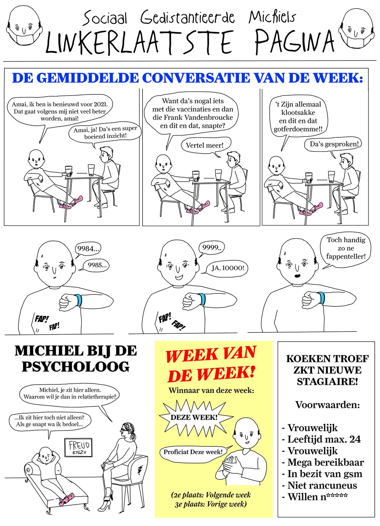sociaal incapabele michiel - week 02 Beeld Tom Borremans | Humo