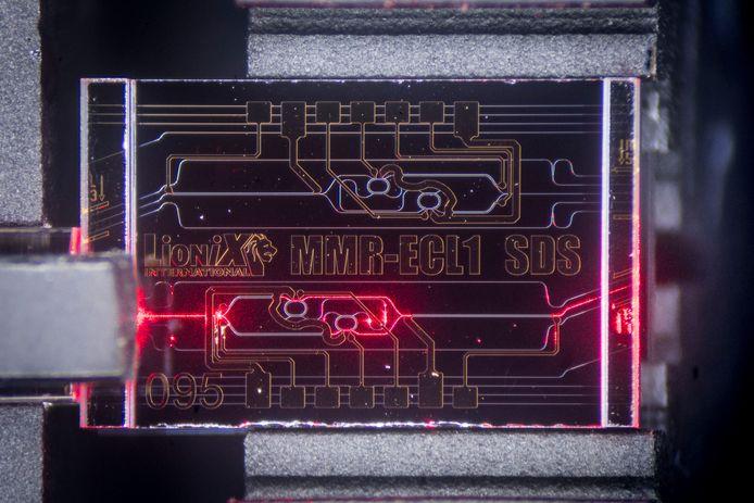 Een chip van LioniX.