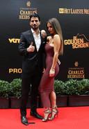 Lior Refaelov en vrouw Gal, twee jaar geleden op het Gala van de Gouden Schoen 2018 in Puurs.