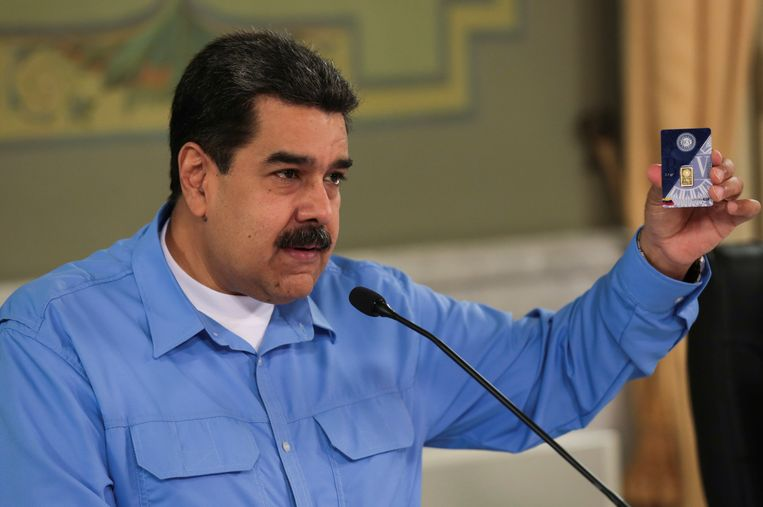 De Venezolaanse president Nicolas Maduro. Beeld REUTERS
