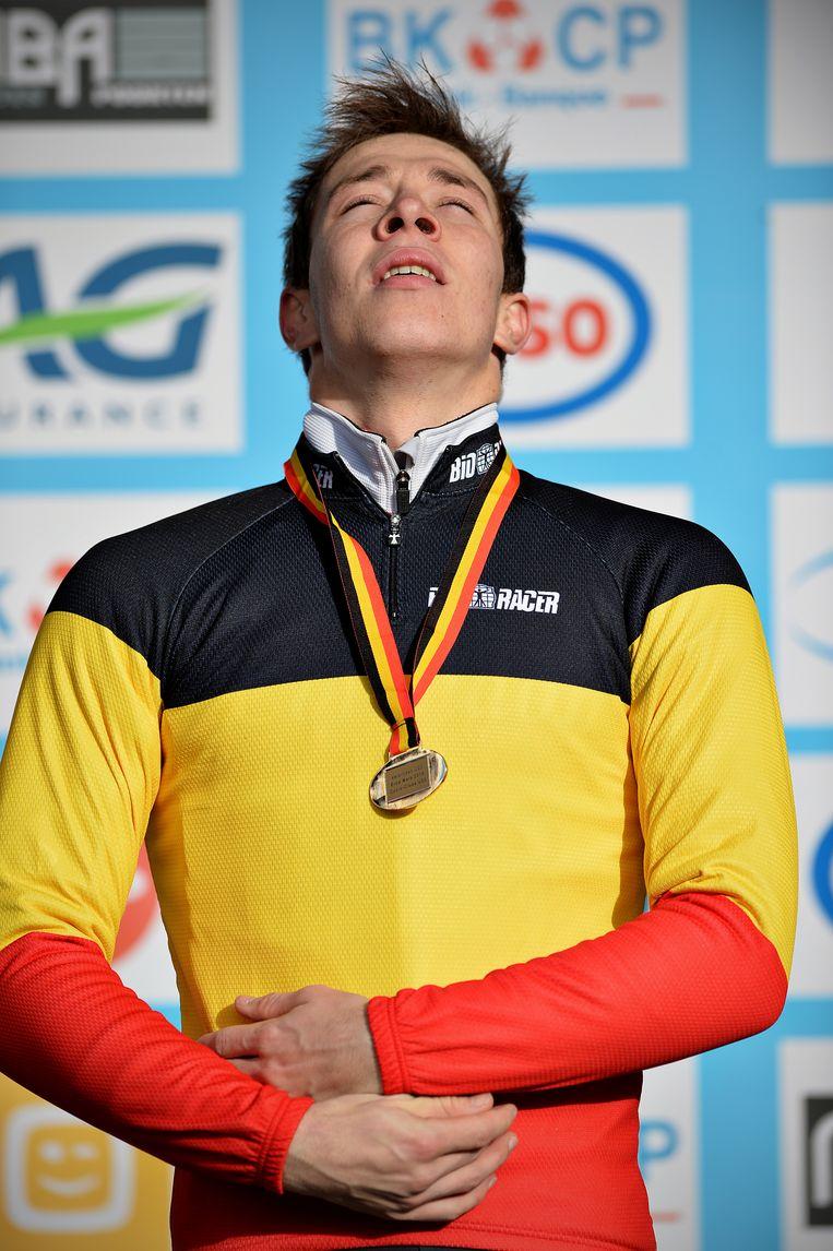 Laurens Sweeck werd onlangs nog Belgisch kampioen bij de beloften. Hij gold als de topfavoriet voor Tabor Beeld BELGA