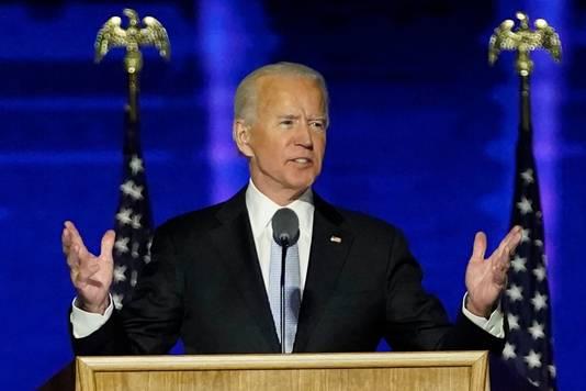 Joe Biden claimde de overwinning vannacht om twee uur (Nederlandse tijd).