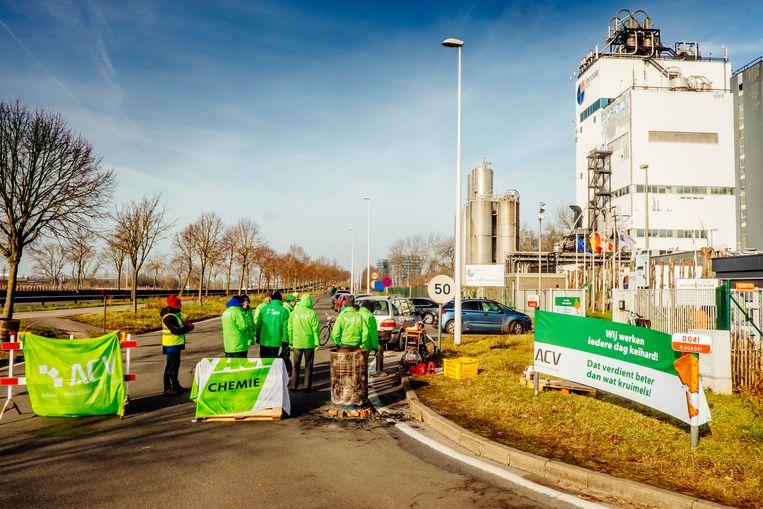 ACV in Gent tijdens nationale staking voor koopkracht. Beeld Stefaan Temmerman