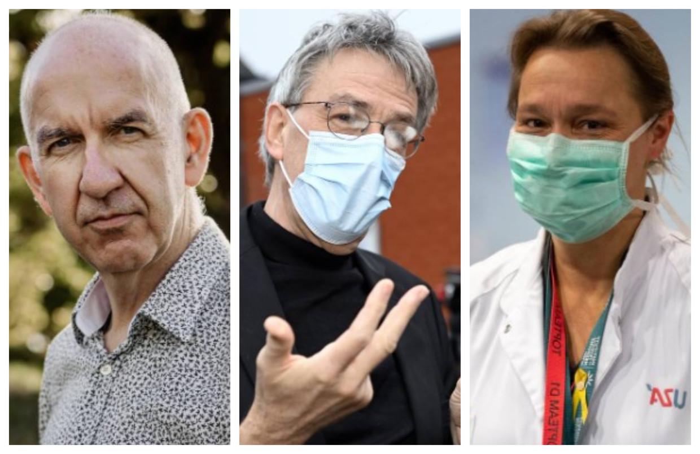 Geert Molenberghs, Herman Goossens en Erika Vlieghe. Beeld dm
