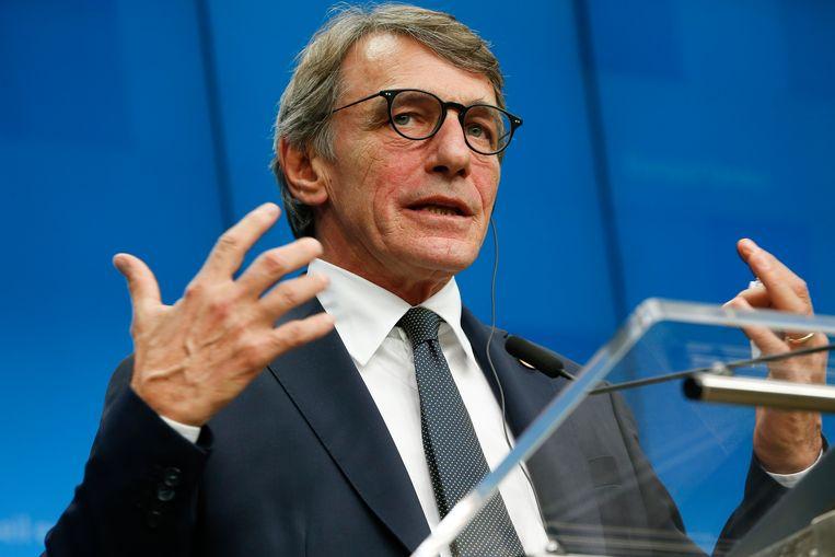 Europees Parlementsvoorzitter David Sassoli. Beeld EPA
