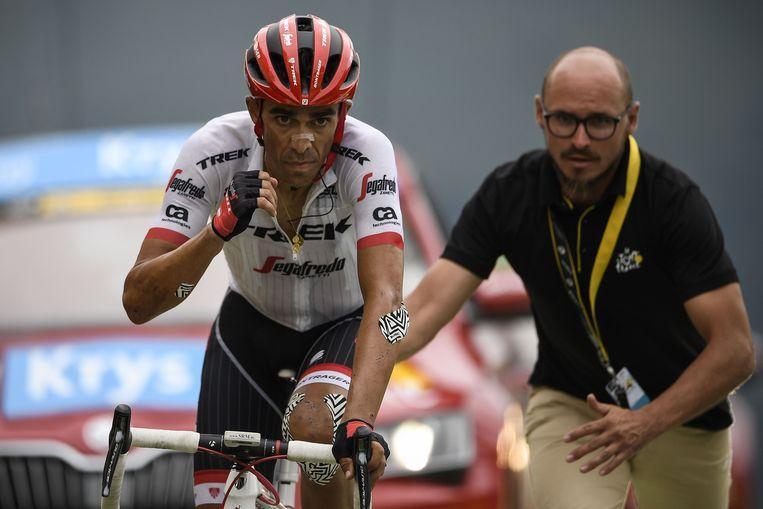 Contador gaat nog louter op een ritzege. Beeld afp