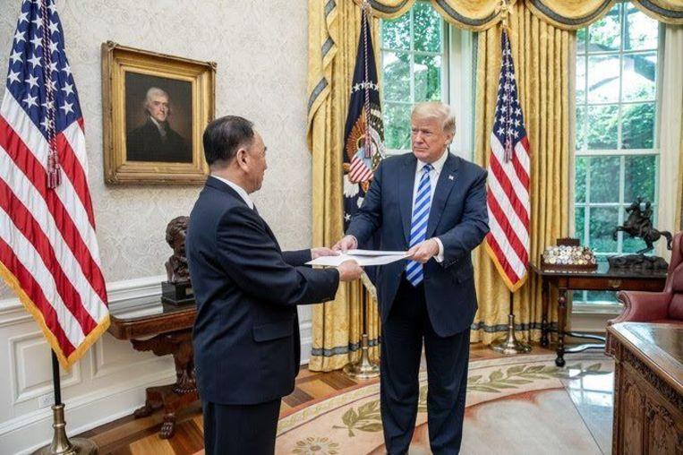 Trump ontvangt Kim Yong Chol, die arriveert in het Witte Huis met een brief van Kim Jong-un
