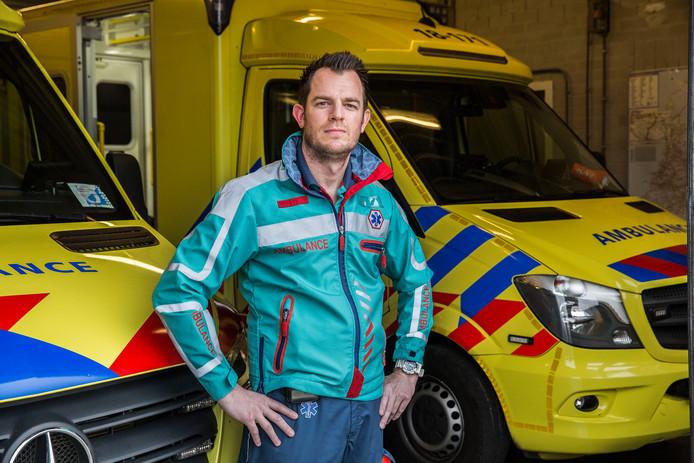 Emiel van den Hoek van de ambulancedienst Zuid-Holland Zuid.