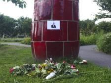 Gedenkplek ingericht voor Peter R. de Vries in Kaipark in Amersfoort